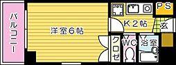第8片山ビル[601号室]の間取り