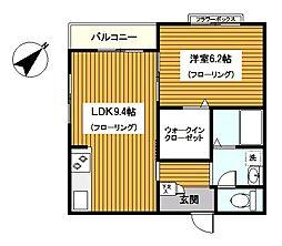 神奈川県横浜市保土ケ谷区鎌谷町の賃貸マンションの間取り