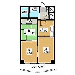 東京都江戸川区南葛西7丁目の賃貸マンションの間取り