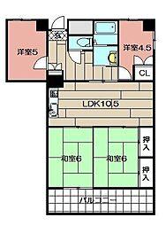 サンシティ金田A棟 907号室[907号室]の間取り