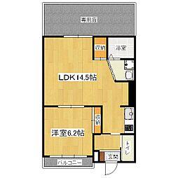 heights6地蔵[1階]の間取り