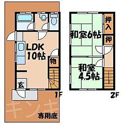 [テラスハウス] 広島県広島市安芸区中野4丁目 の賃貸【/】の間取り