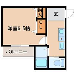 (仮)大物新築アパート[2階]の間取り