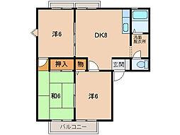 サンシティ紀泉台[2階]の間取り