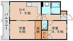 ストリームライン箱崎[3階]の間取り