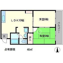 メゾンコルザ[2階]の間取り