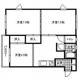武藤フラワーマンション[3階]の間取り