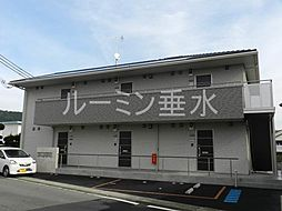 兵庫県加西市北条町栗田の賃貸アパートの外観