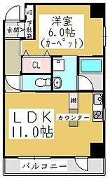 ポムダムール[2階]の間取り