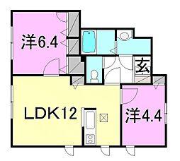 シャーメゾン南吉田A・B棟[B101 号室号室]の間取り