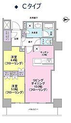 ブランズタワー・ウェリス心斎橋SOUTH[11階]の間取り
