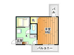 ツインツリー[4階]の間取り