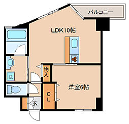 兵庫県神戸市長田区二番町4丁目の賃貸マンションの間取り