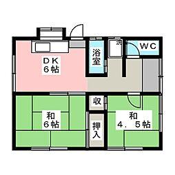 [一戸建] 静岡県浜松市中区上島3丁目 の賃貸【/】の間取り