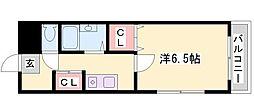 兵庫県姫路市坂田町の賃貸マンションの間取り