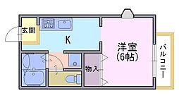 ジュノア神足[2階]の間取り