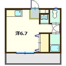 ハイツミルトニア[2階]の間取り