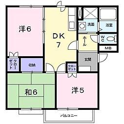 赤坂アーバンライフB[0101号室]の間取り