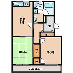 カーサ南茨木[1階]の間取り