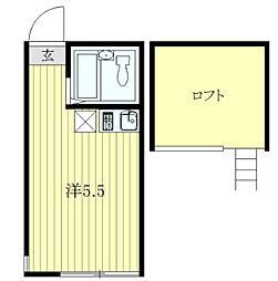 ユナイト川崎新町アドリアーノ[202号室]の間取り