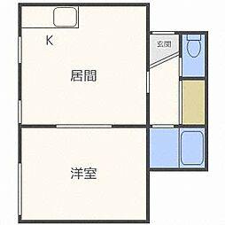 キラメック409[3階]の間取り