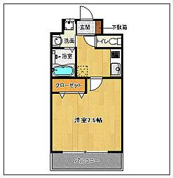 テラバイト西新[2階]の間取り