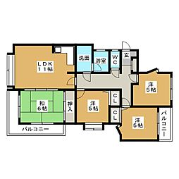 ソレイユメゾン香椎駅東[2階]の間取り
