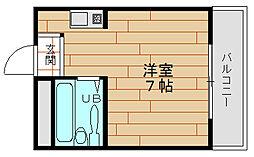 H2O市岡元町[6階]の間取り