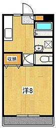 サニーハイツA[108号室]の間取り