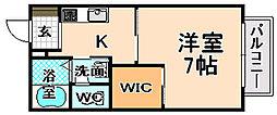 兵庫県伊丹市西台2丁目の賃貸アパートの間取り