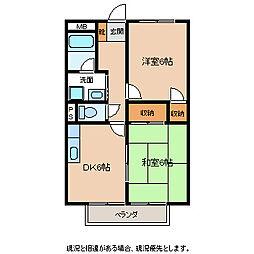 長野県飯田市毛賀の賃貸アパートの間取り