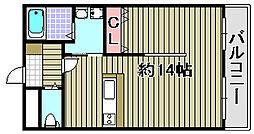 ルミー羽倉崎[106号室]の間取り