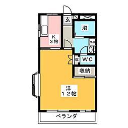 ハイツ大利根III[2階]の間取り