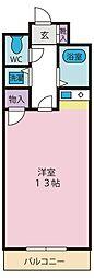 ハイムリバーサイドII[3階]の間取り
