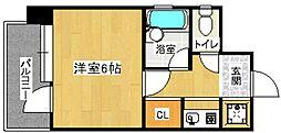 ピュアドーム高宮アクセラ[2階]の間取り