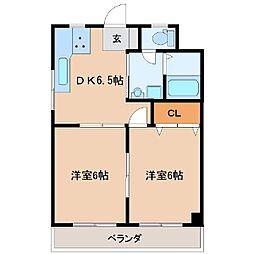 菅原橋スカイマンション[202号室]の間取り