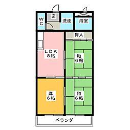 ロードマンション[1階]の間取り