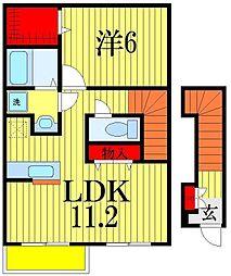 ザイテベルクII[2階]の間取り