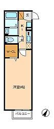 Monarie aki[1階]の間取り