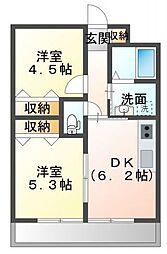 GLAハート東人丸[2階]の間取り