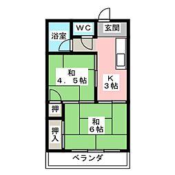 コーポ多賀[3階]の間取り