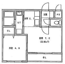 仮)北14条東1丁目MS[405号室]の間取り