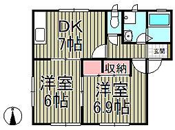 鎌倉ハウス弐番館[101号室]の間取り