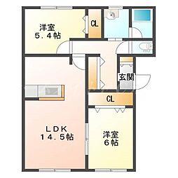 クォーツマンション[3階]の間取り