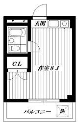 カーサ・ディ・M[3階]の間取り