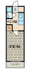 マンショングレイス[2階]の間取り