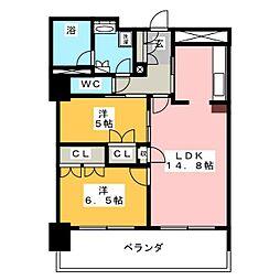 アップルタワーズ仙台 ブローディアタワー[5階]の間取り