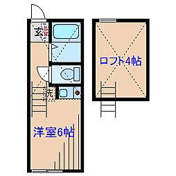 ユナイト妙蓮寺 カグラコート[1階]の間取り