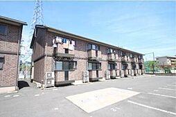 岡山県岡山市北区横井上の賃貸アパートの外観