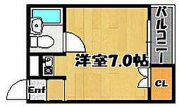 ハピネス平野[5階]の間取り